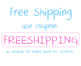 Free Shipping for Orders above Rs.10,00.00